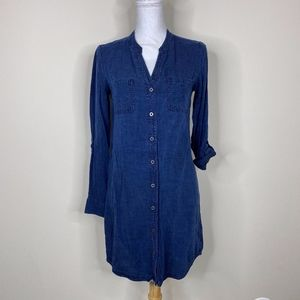 Banana Republic Factory Dark Chambray Shirt Dress